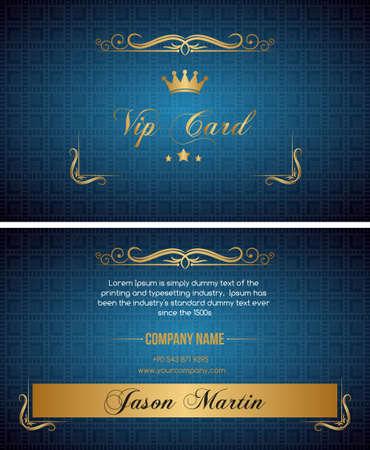 Bleu vip carte