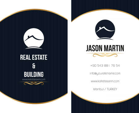 Real estate business card Stock Vector - 26740386