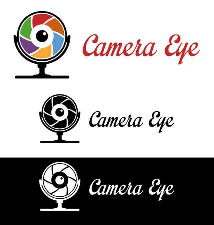 Camera eye logo Vector