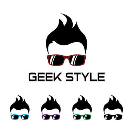Geek style template Illustration