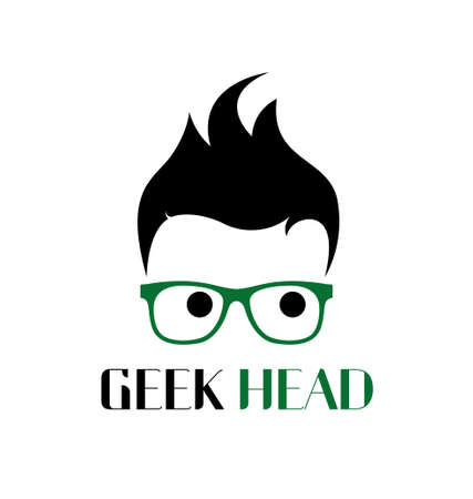 Cool geek logo template Vector