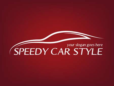 Calligraphic car logo  Vector