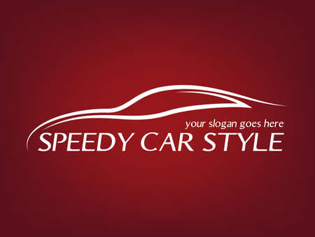 Kalligrafische auto logo Stock Illustratie