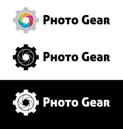 Photo gear logo template Vector