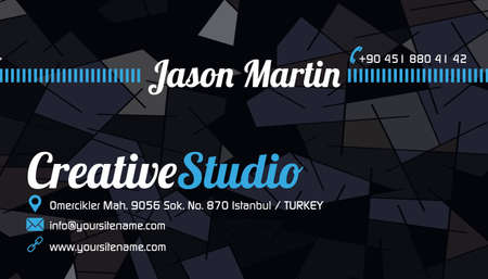 Abstract business card blue Vector