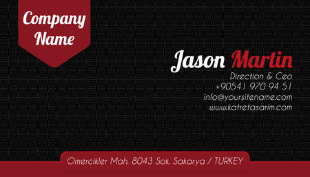 Black - red corporate business card Vector