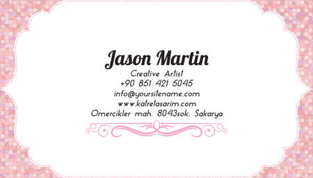 Colorful decorative business card Vector