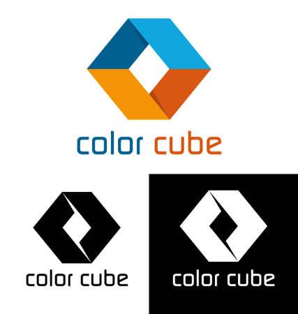 cube de couleur logo modèle