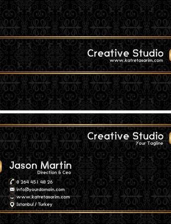 prestige: Prestige business card Illustration