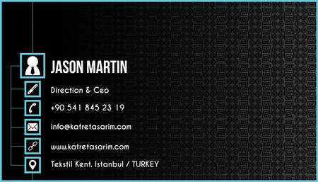 construction firm: Creative business card Illustration