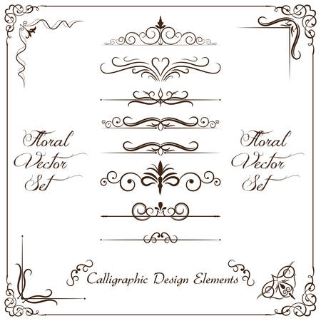 dingbats: Calligraphic design elements