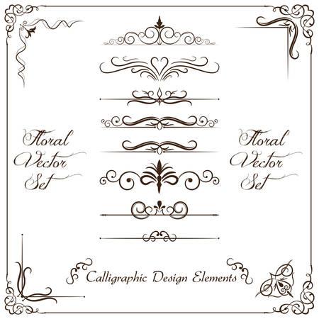 accents: Calligraphic design elements