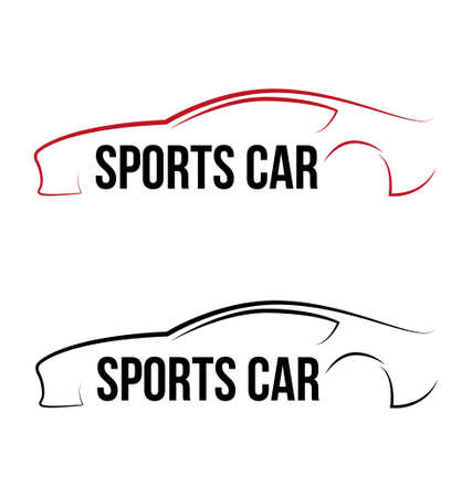 Calligraphic sport car logo template