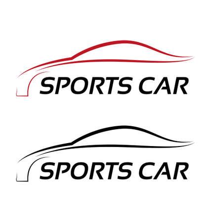 Calligraphic sport car logo template Vector