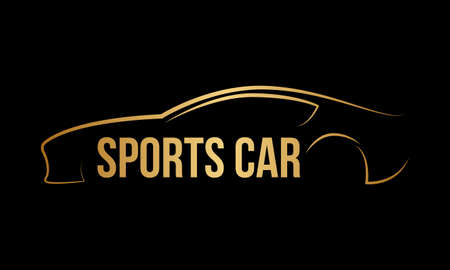 Sports car logo template Vector