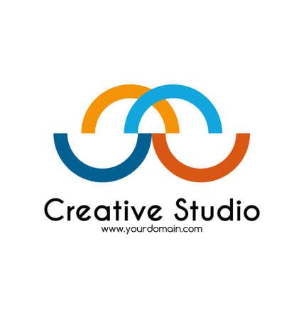 Creative studio logo template Vector