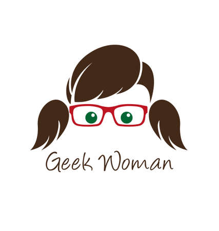 girl glasses: Geek woman