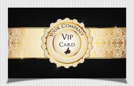 Black creative vip card  Vector