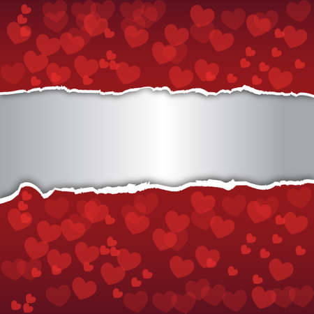 Abstract background  Decorated with red hearts Vector