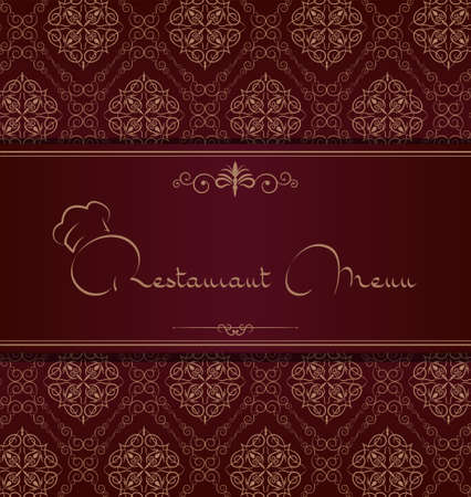 Royal restaurant menu cover Vector