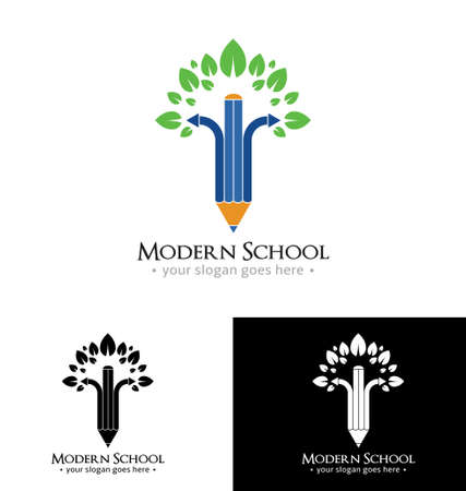 Modern school icon template Vector