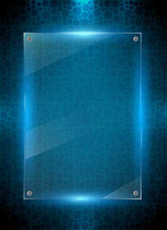Digital blue background Illustration