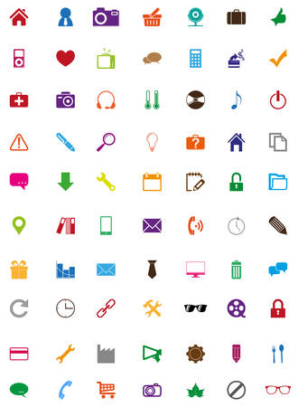 Colorful icons collection Vector