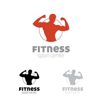 Simbolo centro sportivo Fitness Vettoriali