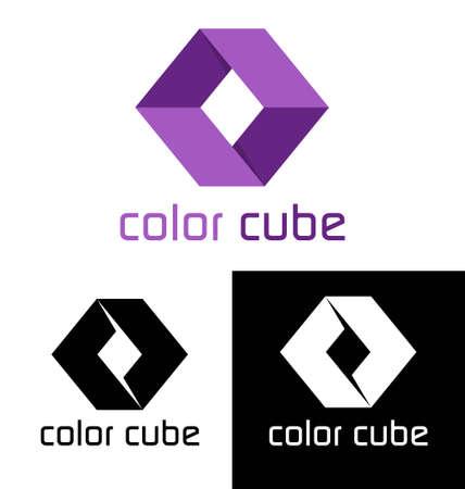 3d shape:  Color cube template