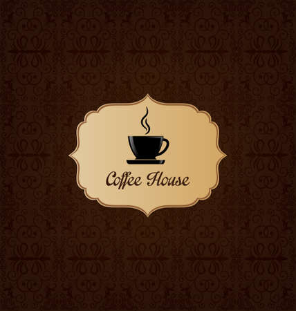 Brown elegant decorative coffee house menu