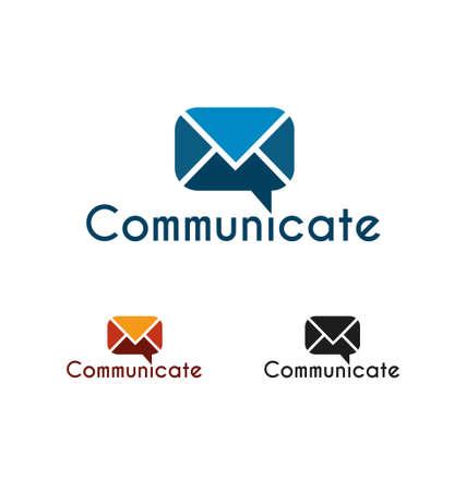 Communicate logo template Vector