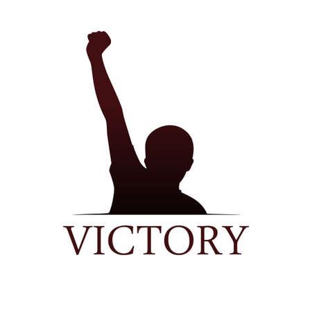 Victory symbol template Vector