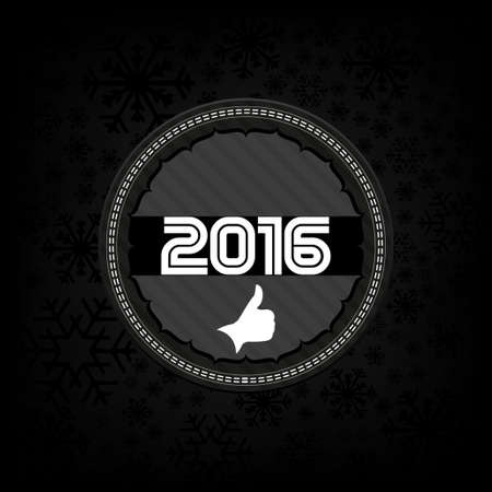 celebrate year: 2016 new year celebrate card