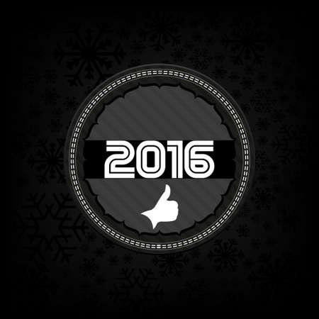 2016 new year celebrate card