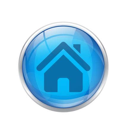 home button: blue home button