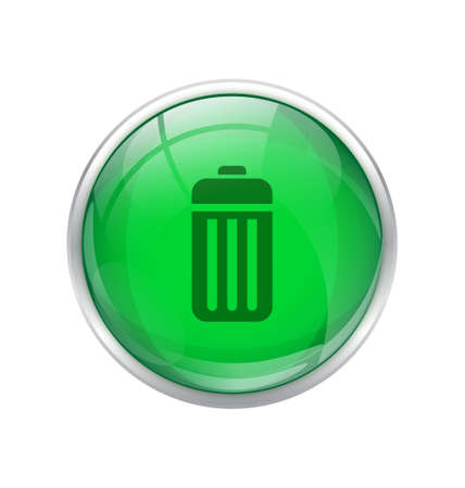 multimedia background: Green battery button