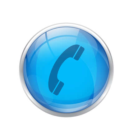 get in touch: Blue Phone Icon