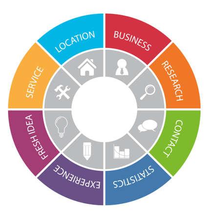 network marketing: Circle infographic. Option elements