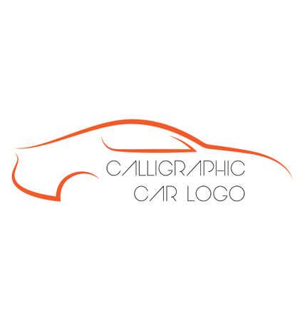 rent a car: Calligraphic car logos