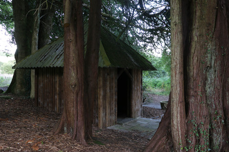 wooden hut: Wooden hut at bovey castle in Dartmoor National Park