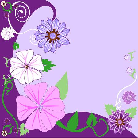 아름 다운 꽃 배경입니다. 벡터 일러스트