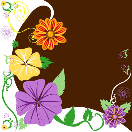 planners: Beautiful Floral Background. Vector Illustration