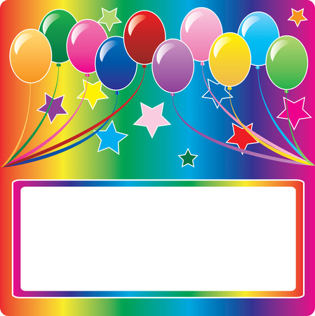 10 colors of balloons, available with different backgrounds. Vector Illustration. Stock Vector - 5413226