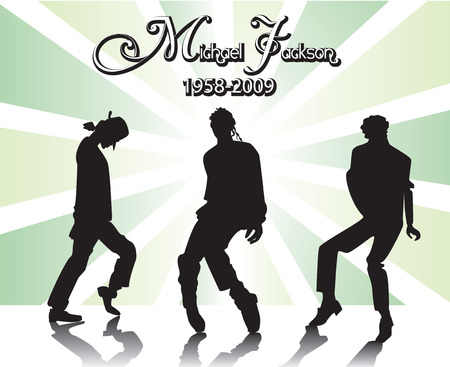 Michael Jackson Memorial 5. Can be used as editorial. Vector