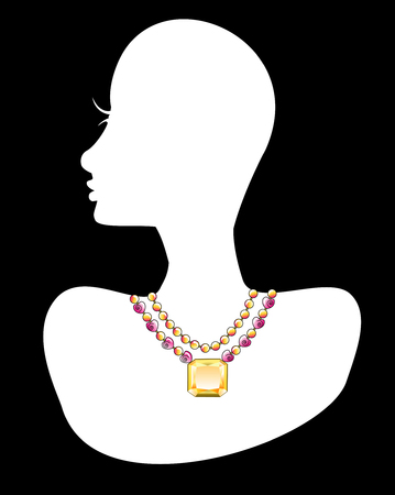 jewellery design: Necklace 1. Also available in other sets.