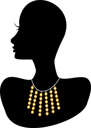 Necklace 4. Also available in other sets. Vector