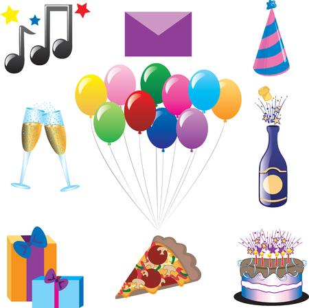 De pictogrammen van de partij. Vector kan worden gebruikt voor elk type van de partij of feest.