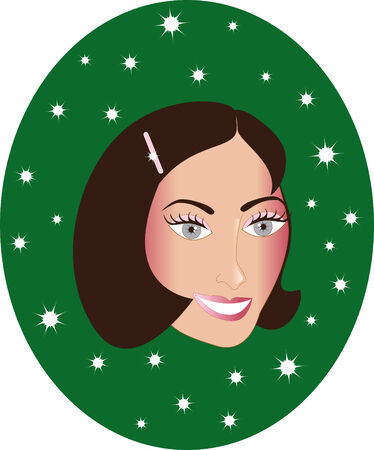 brown haired: Brown haired woman, can be a personalized Chrismas Card, see my other variations.
