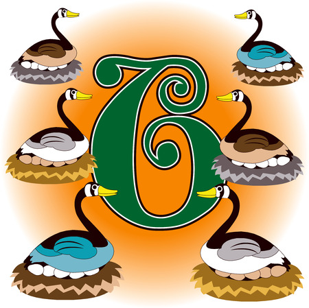 waterfowl: 12 Days of Christmas. Can also be used to learn how to count. See all 12 cards.