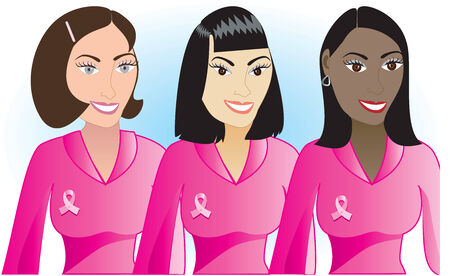 Illustration for Breast Cancer awareness month.  Vector